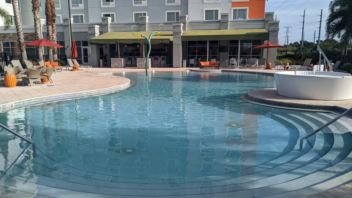 My family loved the pool at TownPlace Suites by Marriott Orlando across the street from SeaWorld theme park