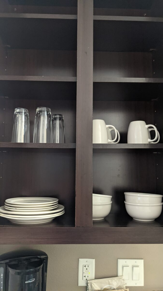 Suites at TownPlace Suites Orlando Florida near SeaWorld have all the supplies you need to cook meals