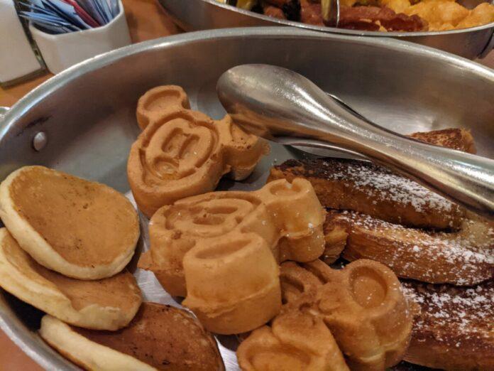 Cape May Cafe at the Walt Disney World Resort in Orlando, FLorida has delicious breakfast items like Mickey waffles