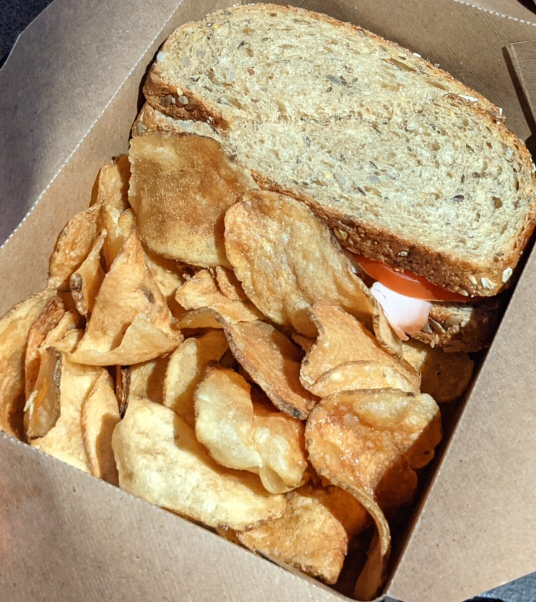 Geyser Point Bar & Grill at Disney's Wilderness Lodge in Orlando has great food like turkey sandwiches and chips