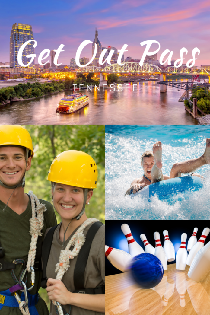 Visit Kentucky Kingdom, Nashville Shores, bowling alleys, ziplining, axe throwing classes, paintball, scavenger hunts & more with GetOutPass Tennessee