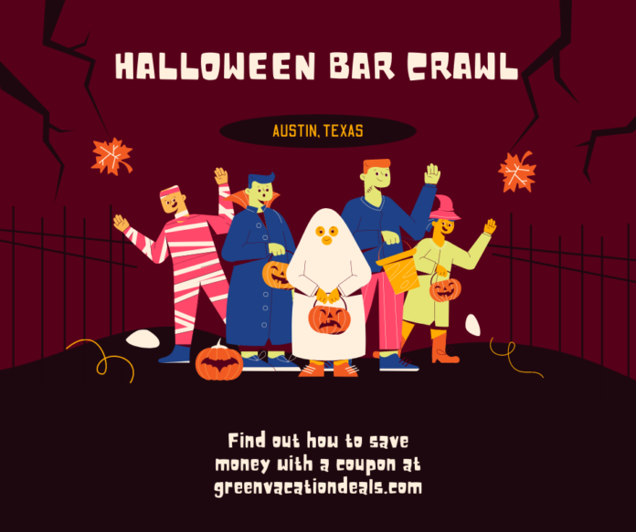 Promo code, coupon for Crawl With Us Halloween Crawl in Downtown Austin