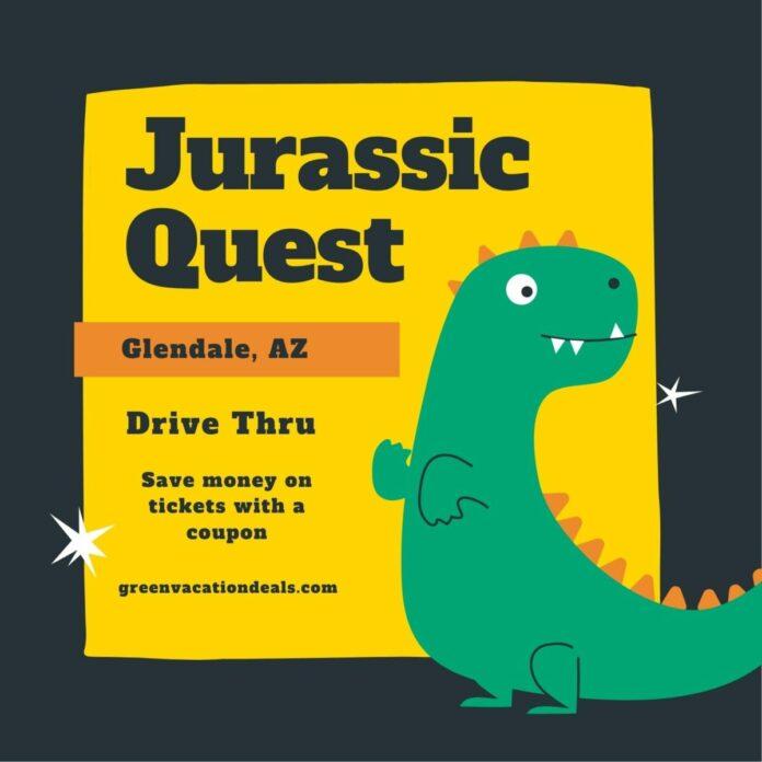 Discount ticket to dinosaur drive thru event, Jurassic Quest, in Phoenix, AZ area