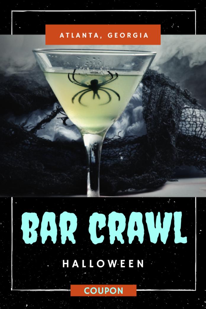 Discount ticket to Halloween bar crawl in Atlanta get free drinks at Lost Dog Tavern, GS Midtown, Kramer's Buckhead, Ten Atlanta, etc.