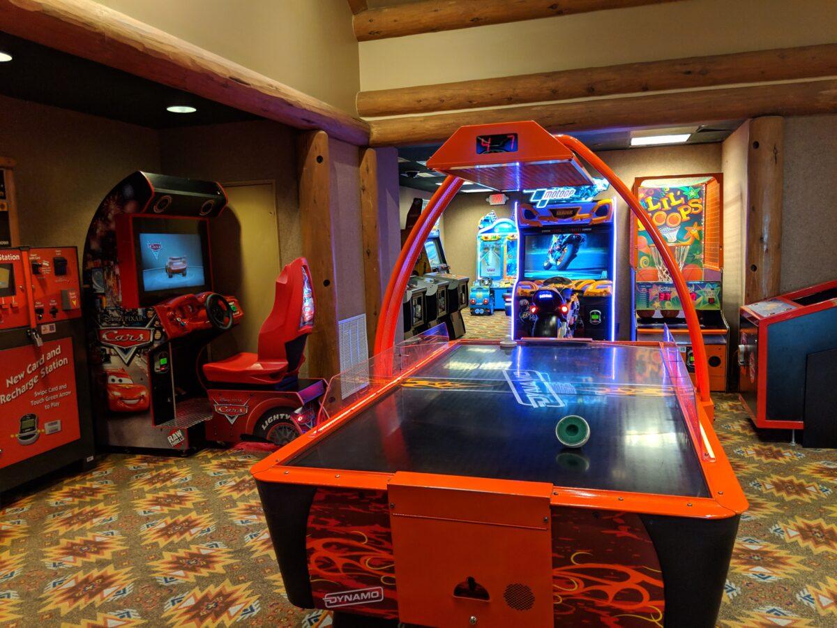 The Wilderness Lodge at Walt Disney World Resort in Orlando, Florida has a great arcade