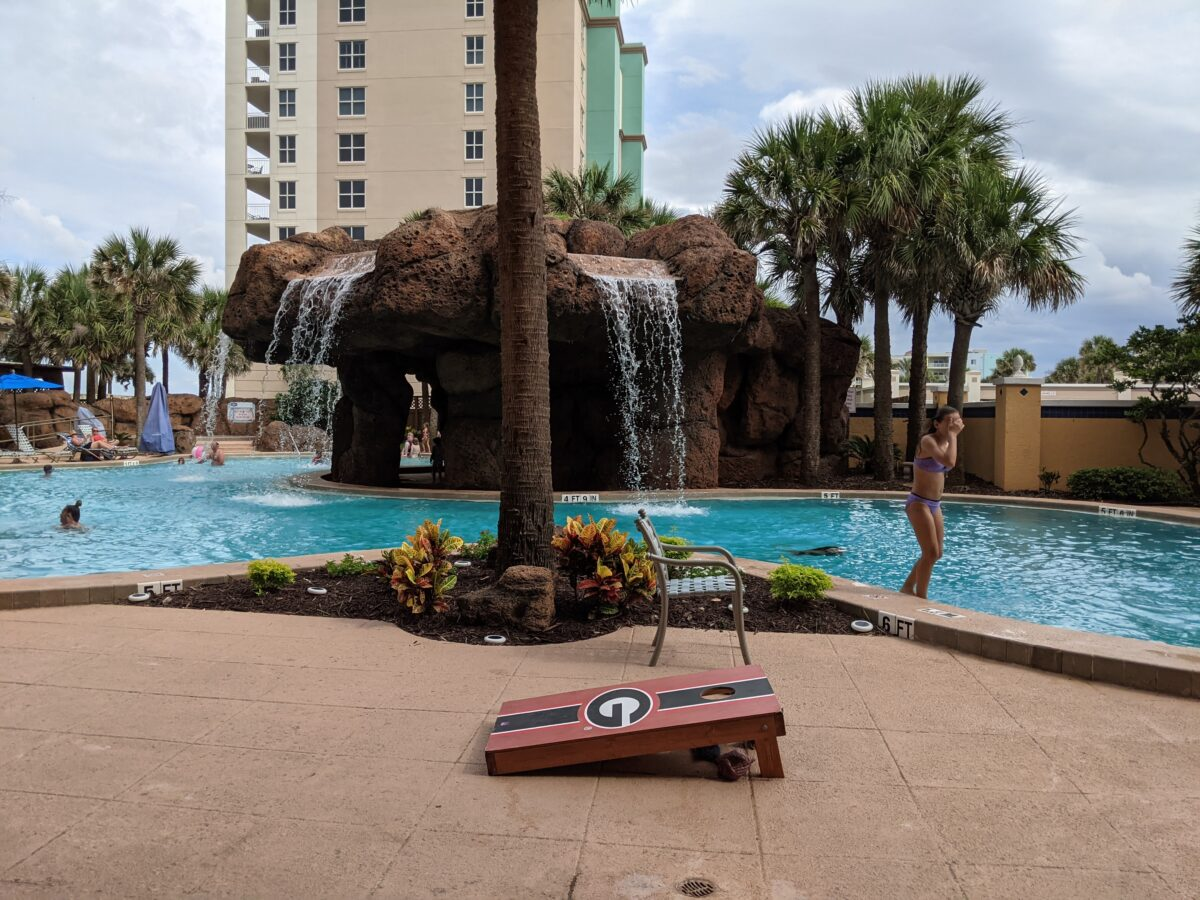 A picture of the pool and other recreational activities available at Hampton Inn Jacksonville Beach Oceanfront