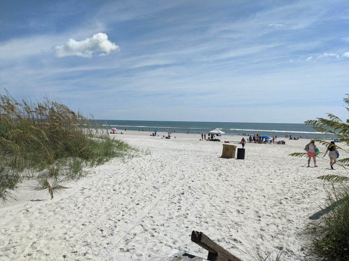 Hampton Inn Jacksonville Beach/Oceanfront is located right in front of the beach