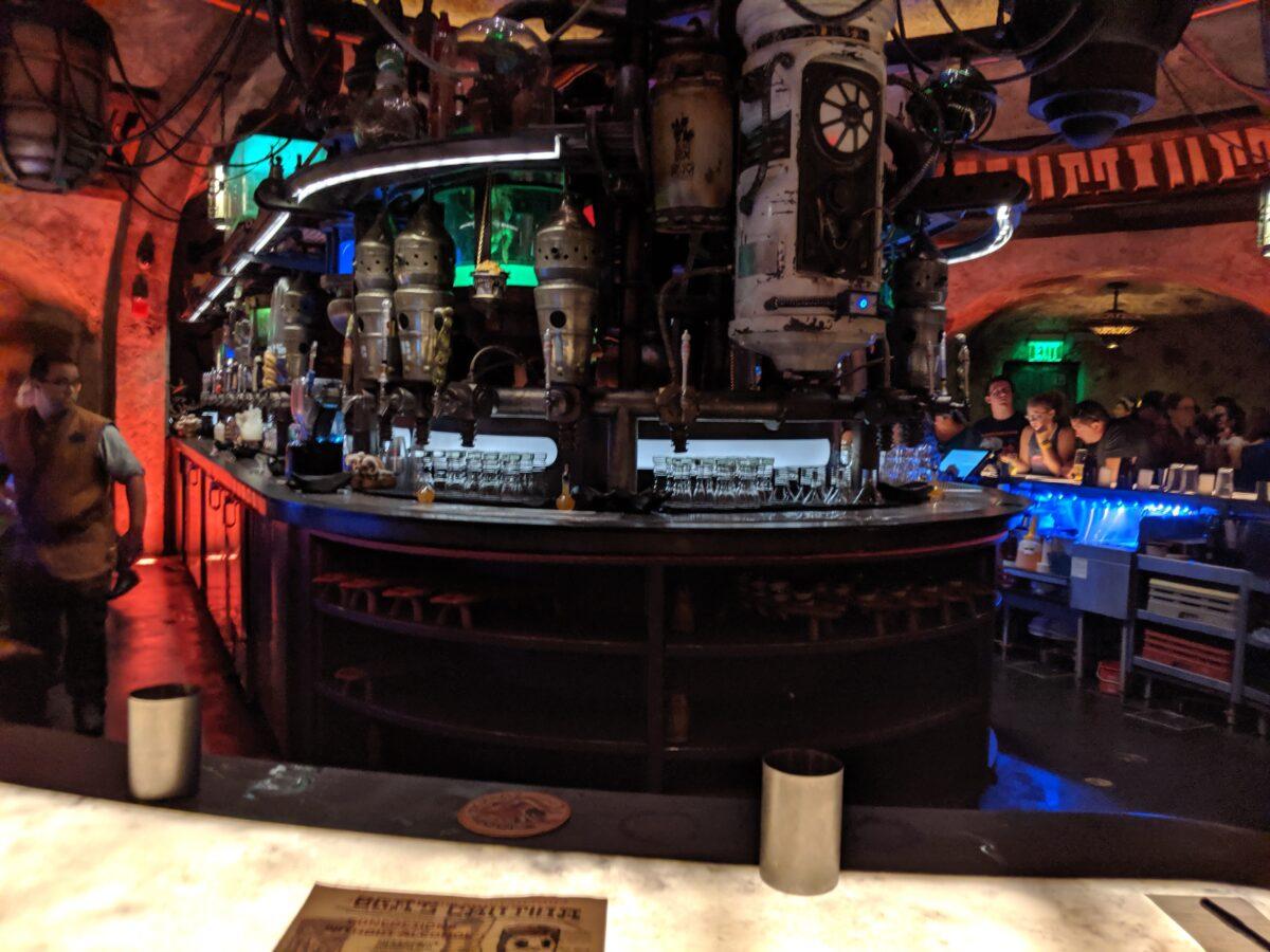 Inside Oga's Cantina at Disney's Hollywood Studios