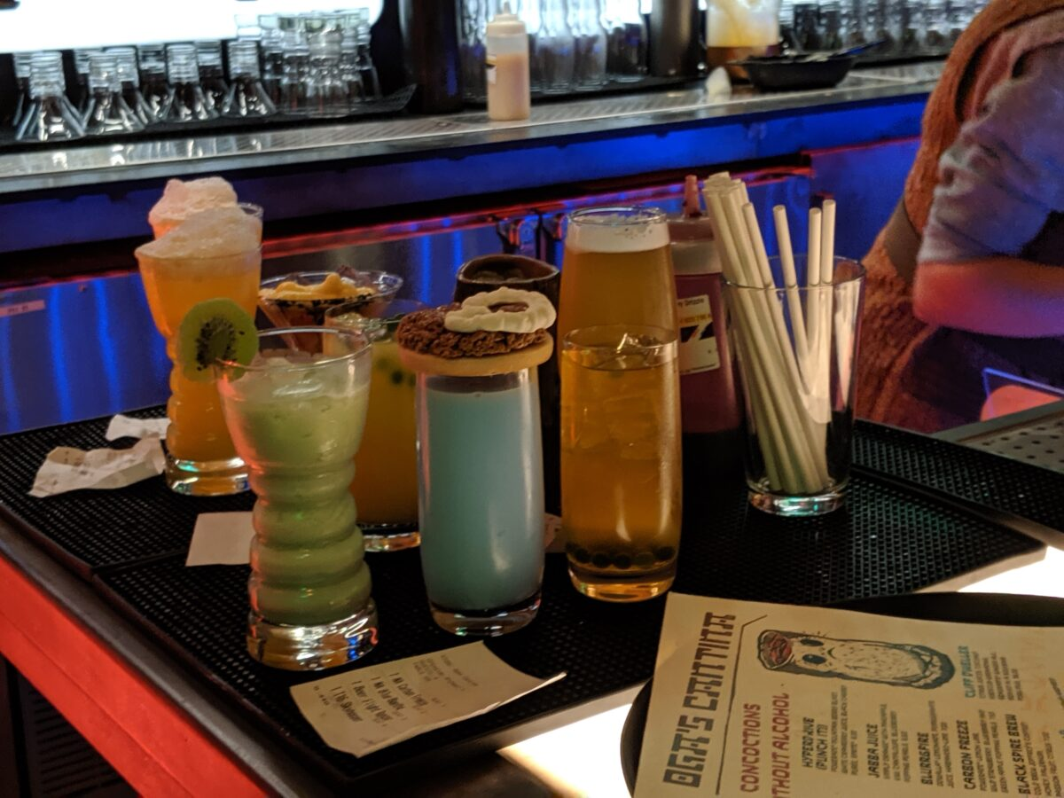 Oga's Cantina Drinks and Alcoholic Beverages at Star Wars Galaxy's Edge