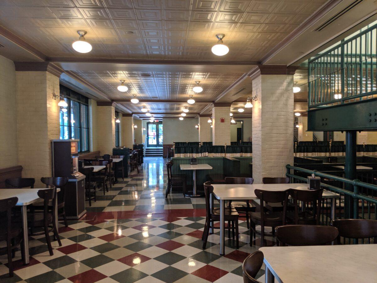 Inside PizzeRizzo Restaurant at Disney's Hollywood Studios