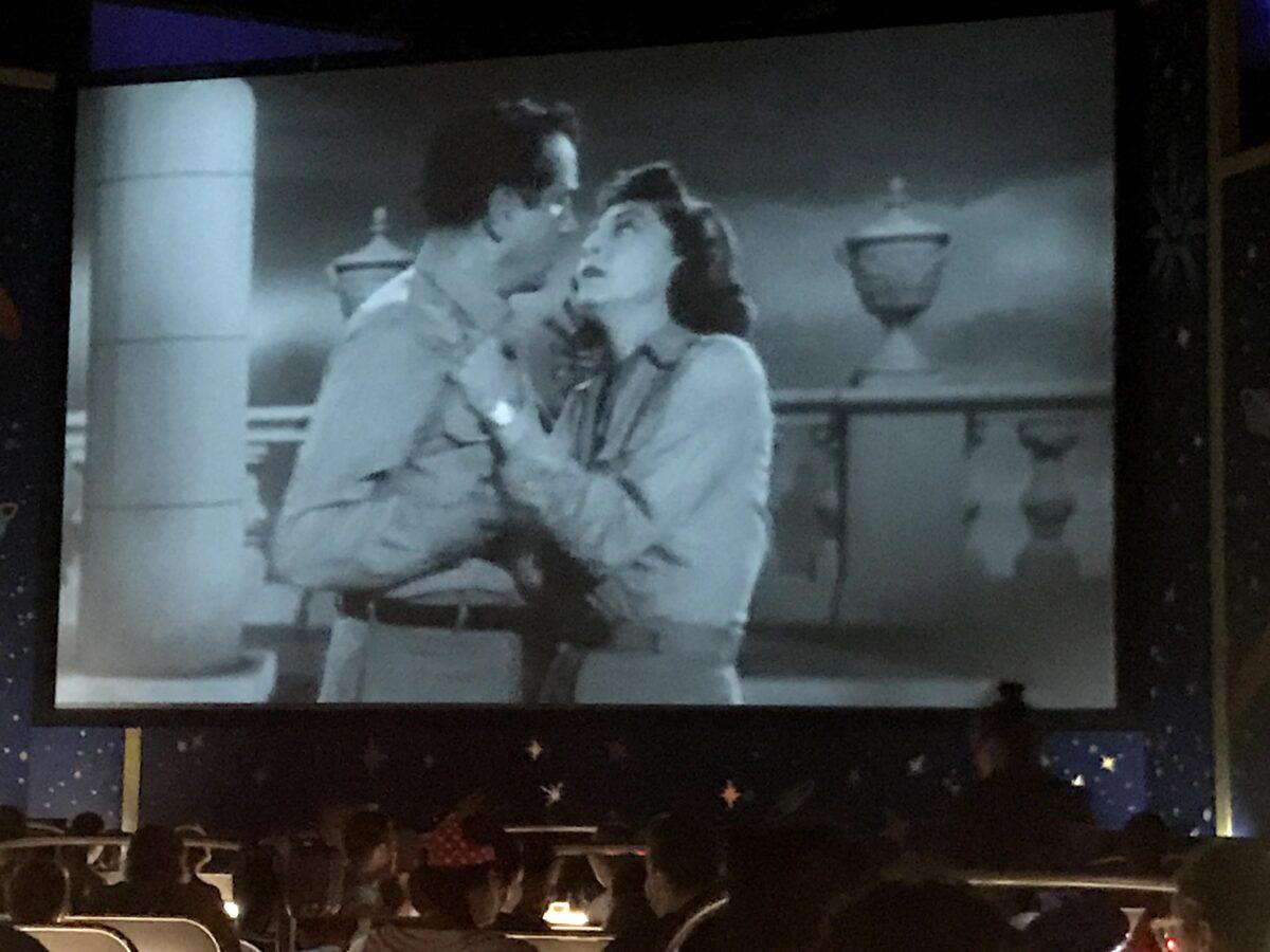 Drive In Movie Screen at Sci Fi Dine In Restaurant
