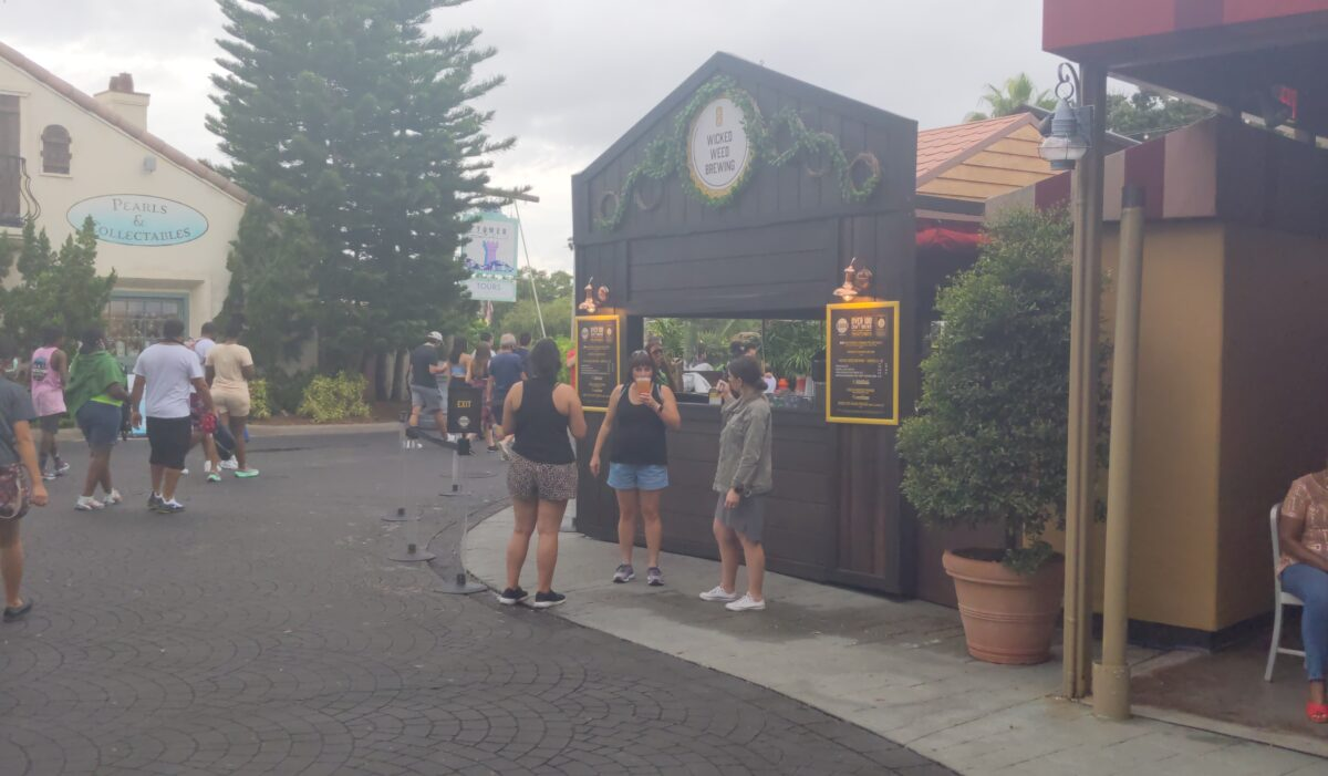 Wicked Weed Brewing from Asheville, NC have a station at SeaWorld's Craft Beer Festival in Orlando, Florida