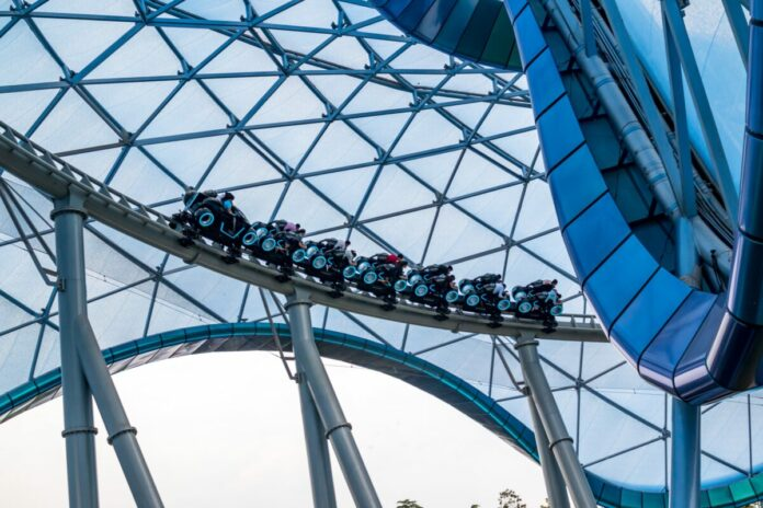 A guide to riding Tron Lightcycle Power Run roller coaster at Shanghai Disneyland Park in China