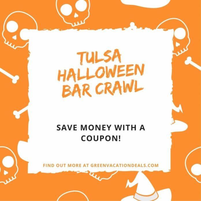 Discounted ticket to Crawl With Us Halloween Bar Crawl in Tulsa, Oklahoma