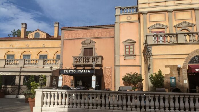 The Italian Pavilion at Epcot in Disney World has lots of shopping and great restaurants, like Tutto Italia
