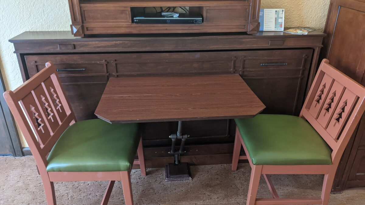 A picture of the table in a Wilderness Lodge DVC villa