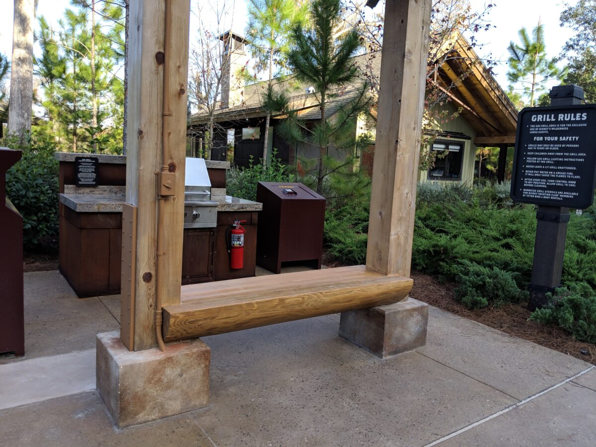 Save money and make your own meals by grilling out at Wilderness Lodge in Orlando
