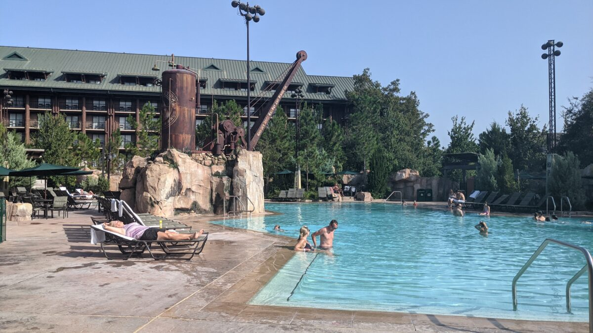 A picture of the pool at Disney's Wilderness Lodge
