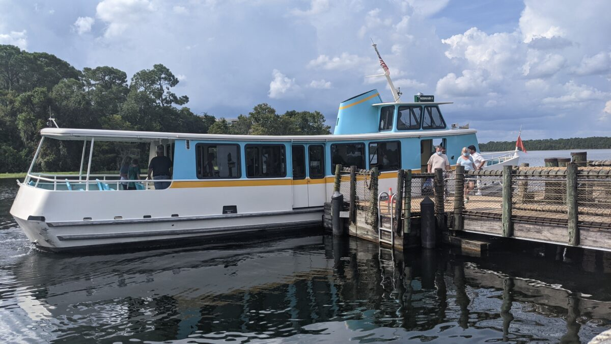 Take boat to the theme parks at Walt Disney World Resort from the Wilderness Lodge hotel