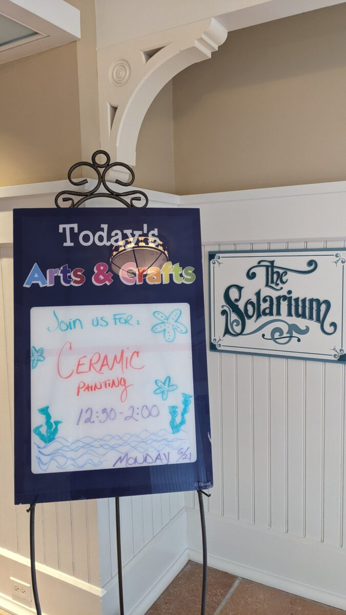 Ceramic painting is one of the arts & crafts offered at Disney's Beach Club hotel in Orlando, Florida