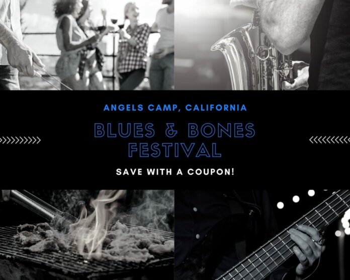 Discounted ticket for Blues and Bones Festival in Angels Camp, CA