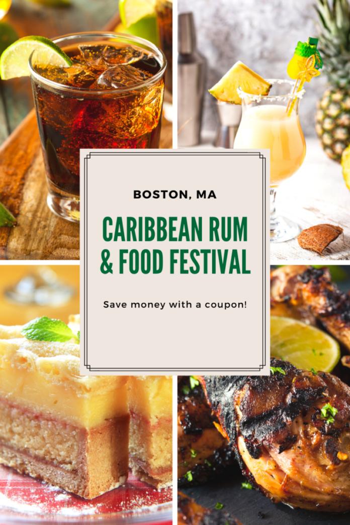 Discount ticket for Caribbean Rum & Food Festival in Roxbury Crossing, MA