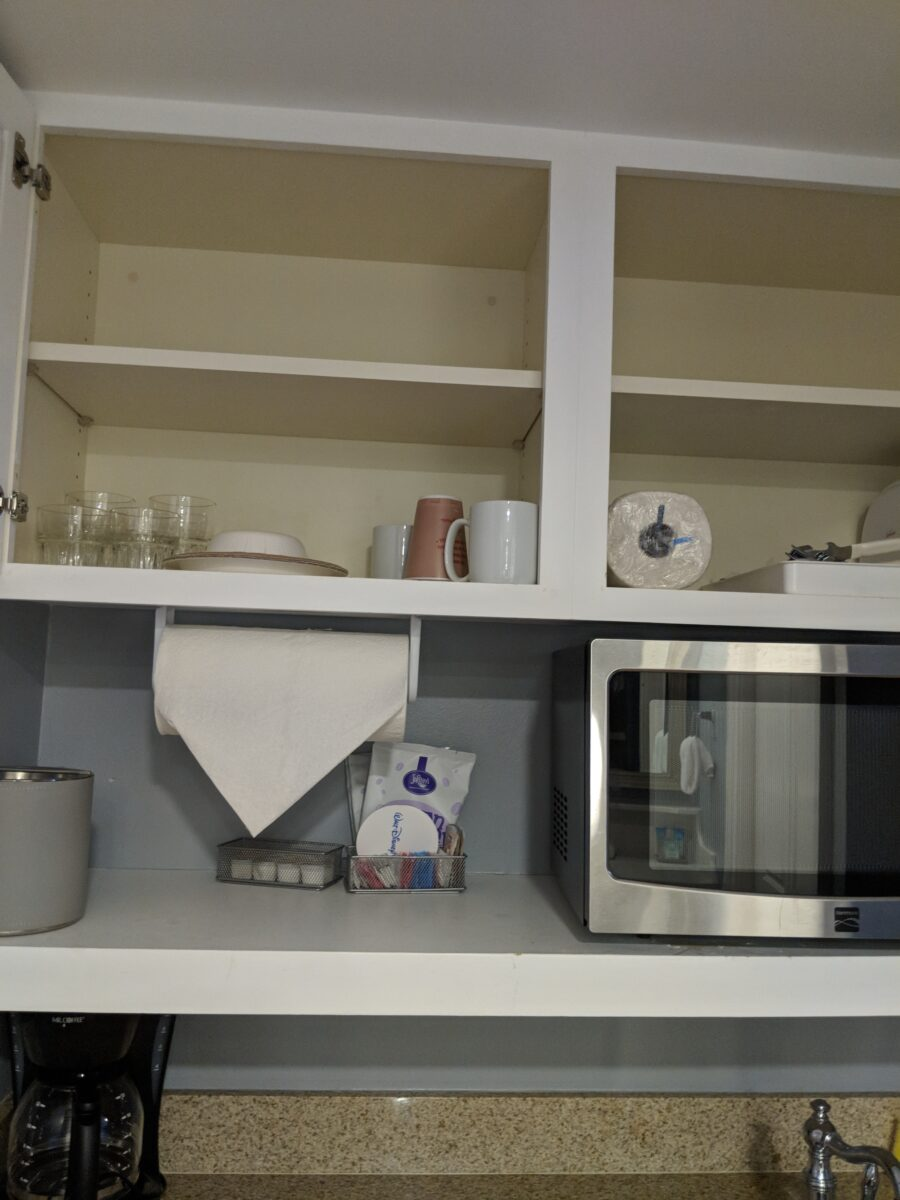 Disney's Beach Club Villas come with full equipped kitchens with plates & other utensils supplied