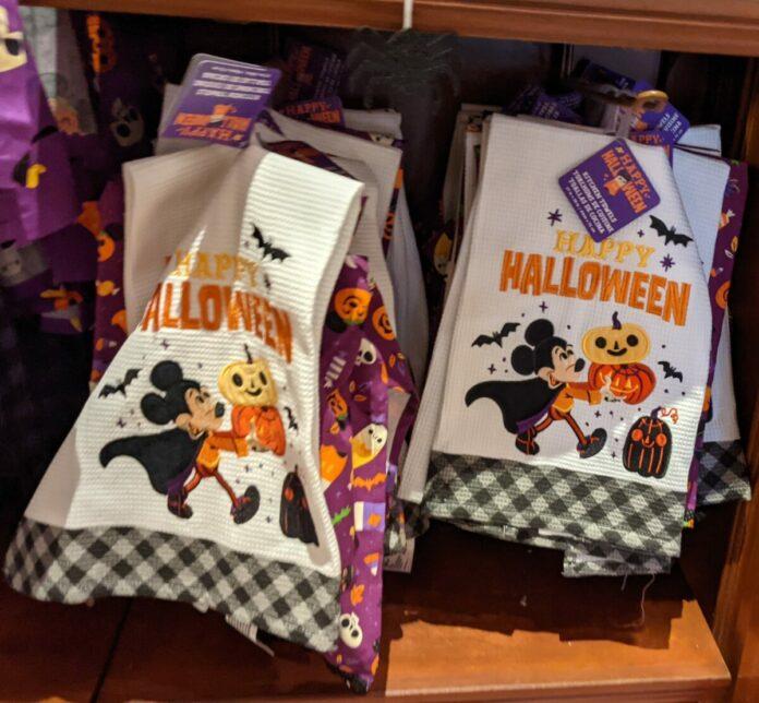 Top Disney Halloween dish towels