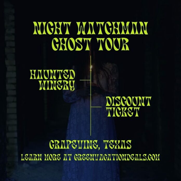 Discount ticket for Grape Vine Springs Winery Ghost Tour near Dallas, Texas