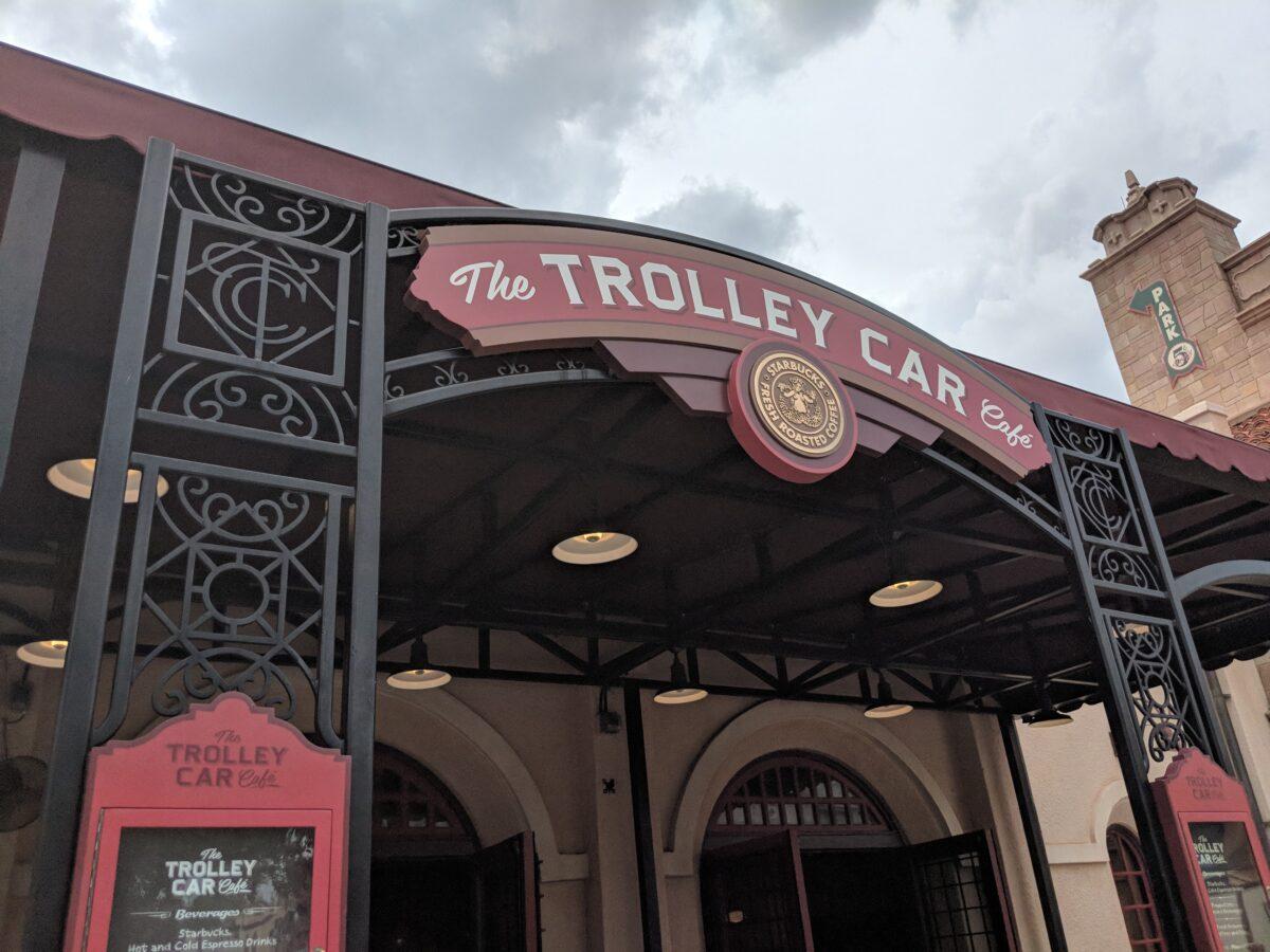 The Trolley Car Cafe Starbucks Restaurant at Hollywood Studios