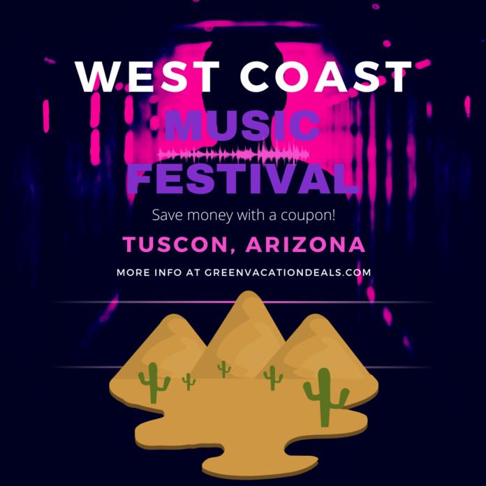 West Coast Music Festival Tucson, Arizona discount tickets