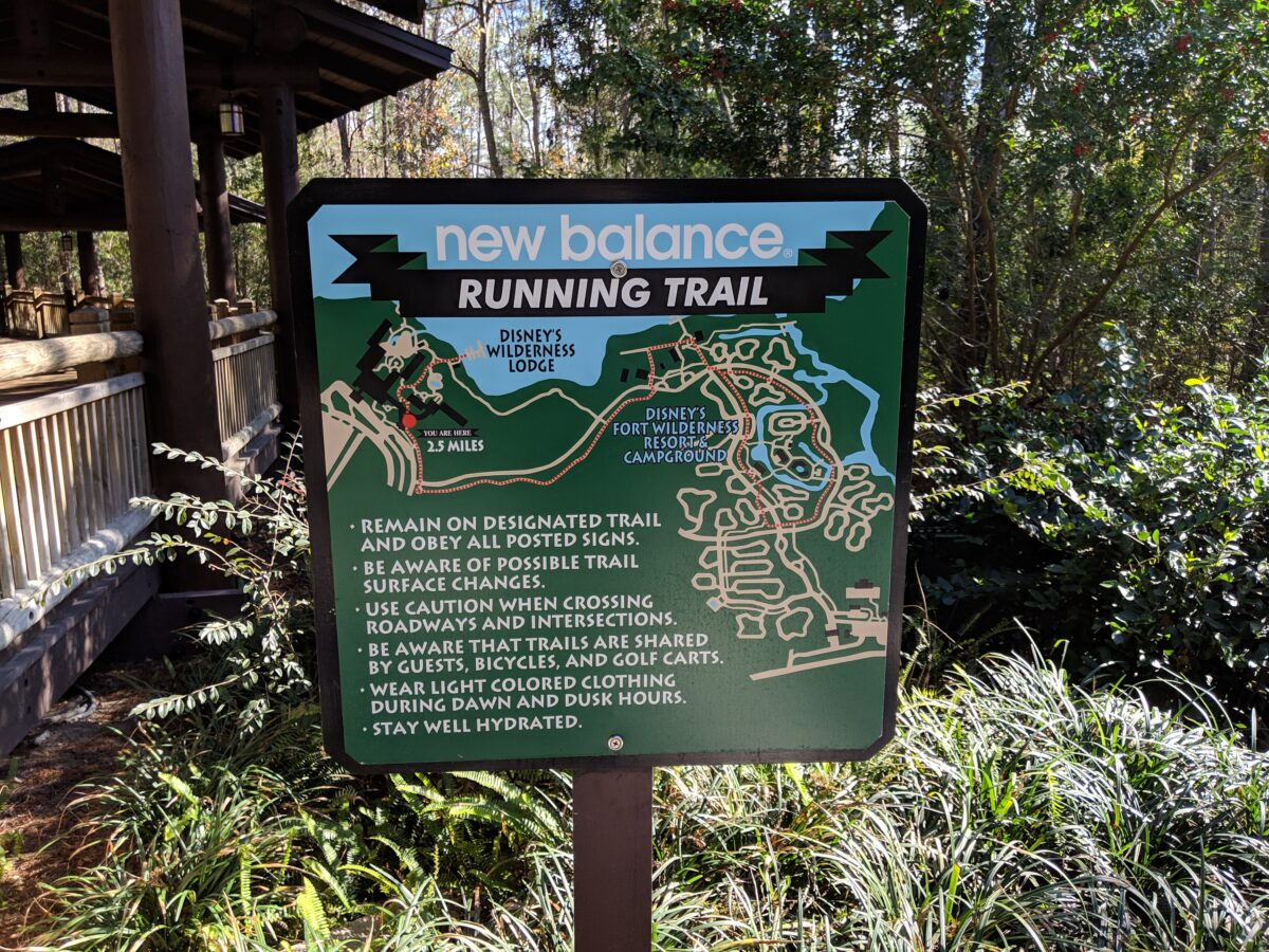 A great way to explore the Wilderness Lodge hotel at Disney World is running through the Running Trail