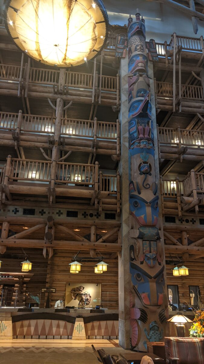 Love the gorgeous decor at Wilderness Lodge hotel in Disney World in Orlando