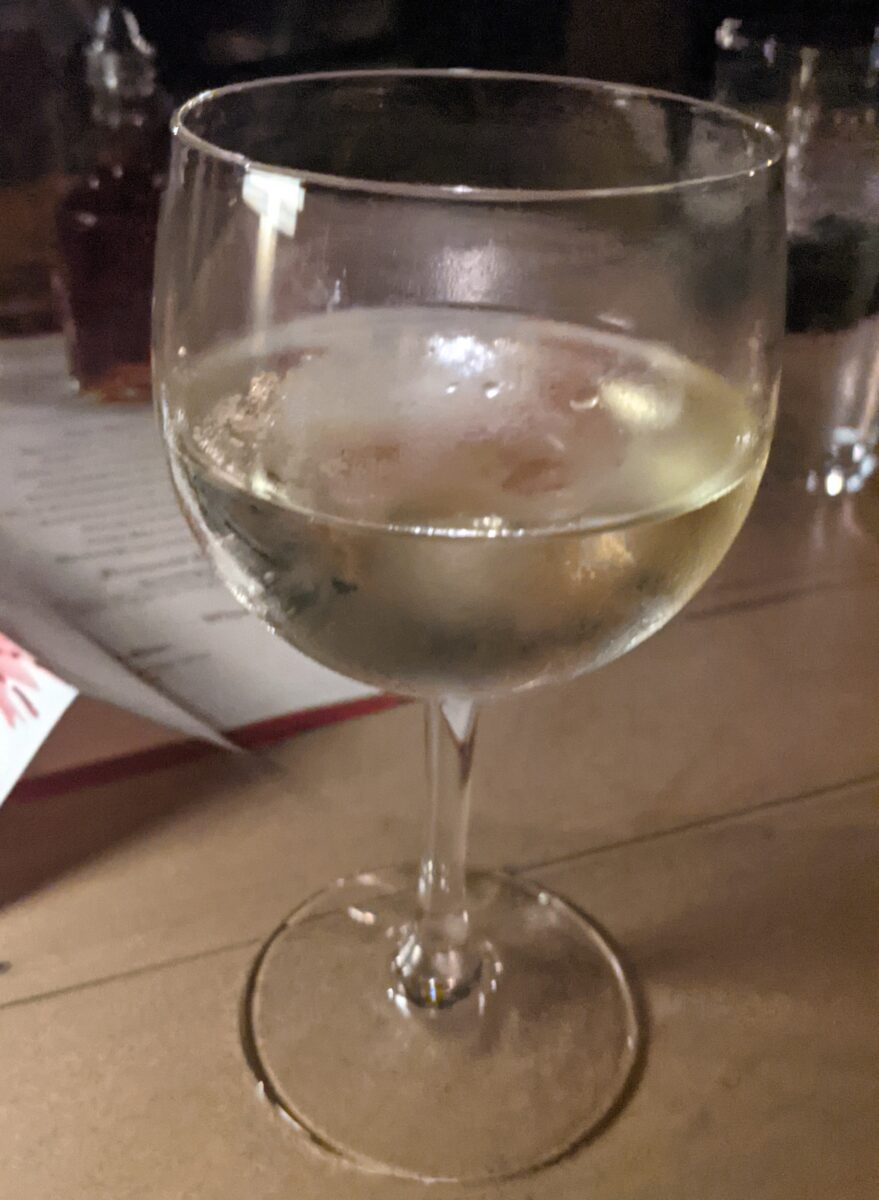 Disney's Rose & Crown has a great fireworks dining package that includes unlimited drinks like this Kim Crawford Sauvignon-Blanc wine