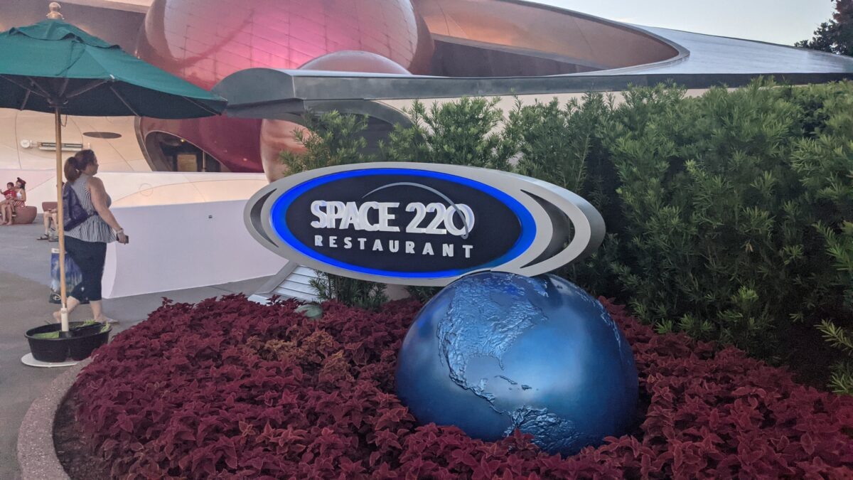 A new restaurant at the front of Epcot is Space 220 restaurant