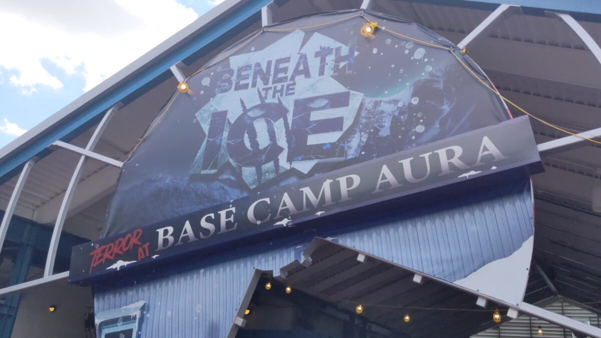 Learn how to skip the line at Beneath the Ice & other haunted houses at Howl o Scream in SeaWorld theme park in Orlando, FL