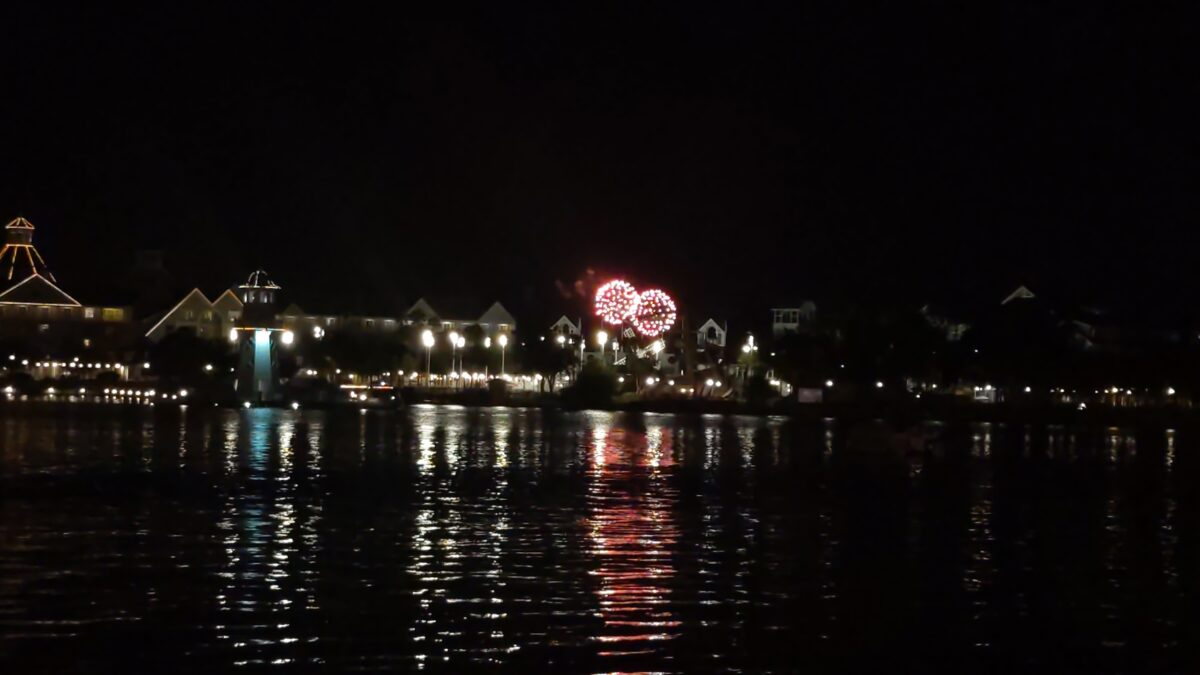 One of the perks of eating at a restaurant along Disney's Boardwalk is you can watch the fireworks from Magic Kingdom
