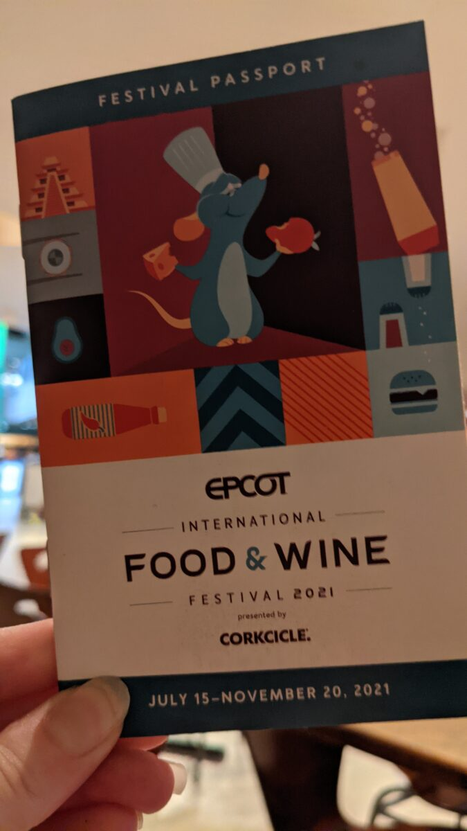 Read about beers, wines, drinks & food at the Epcot Food & Wine Festival for 2021 in Walt Disney World with a festival passport