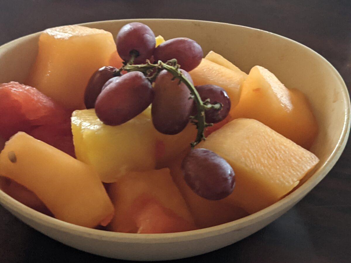 Disney's Polynesian Resort's Ohana restaurant has a great buffet breakfast that includes unlimited delicious seasonal fruit