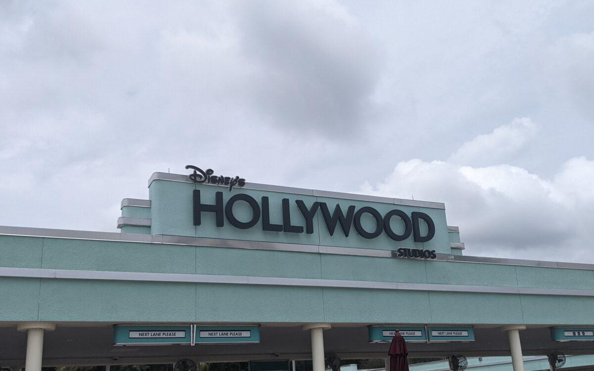 Entrance to Disney's Hollywood Studios theme park in Orlando Florida