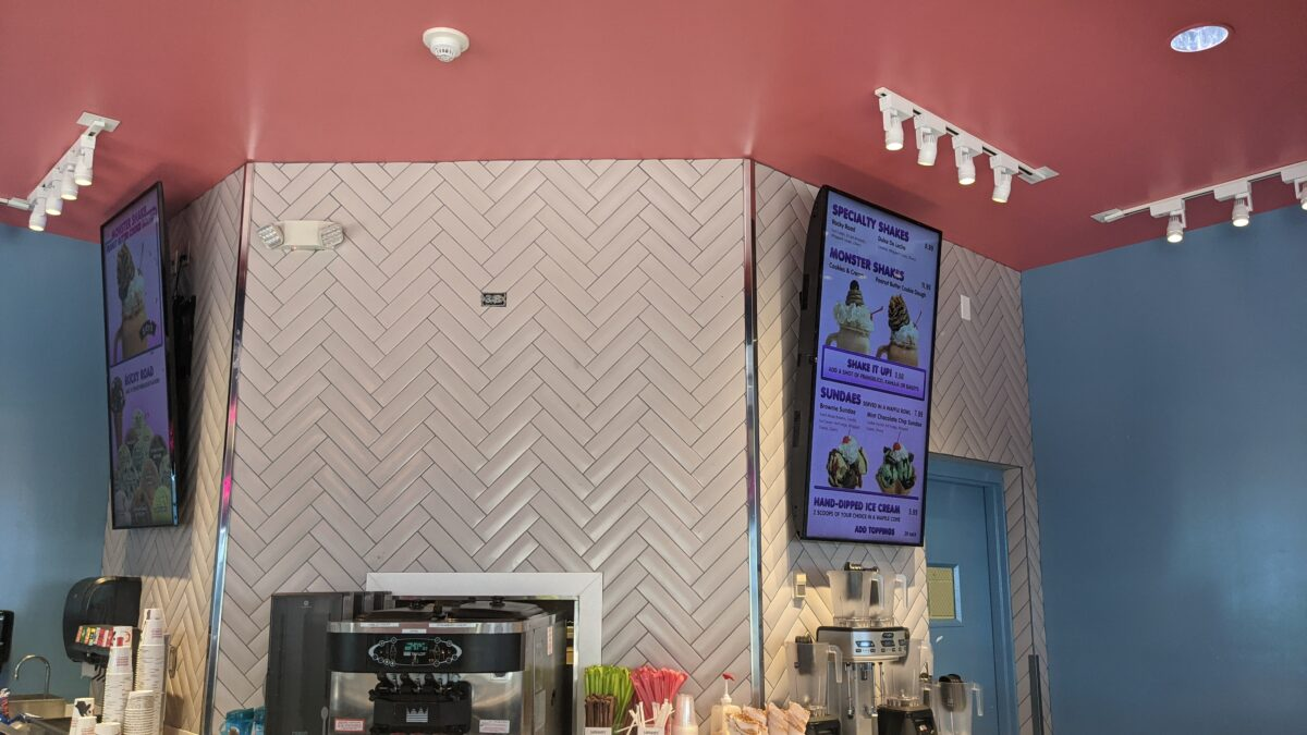 There are over 14 flavors of ice cream at Edy's Ice Cream in SeaWorld Orlando & you can use them for shakes, sundaes, or ice cream bowls or cones