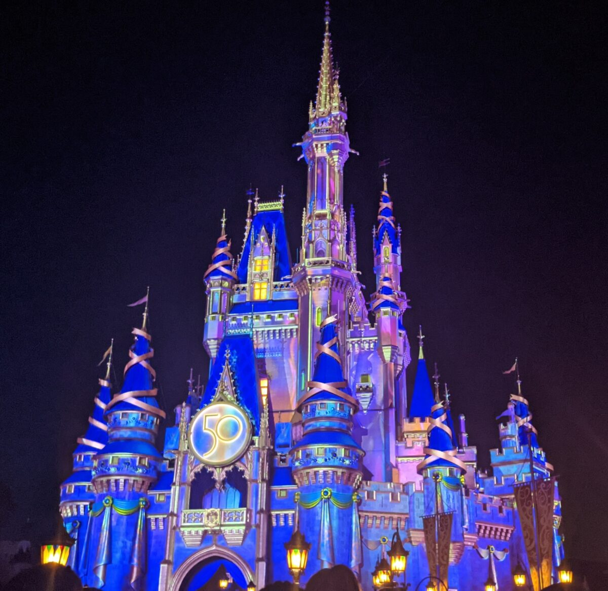 Magic Kingdom Cinderella Castle 50th Anniversary Celebration at Walt Disney World