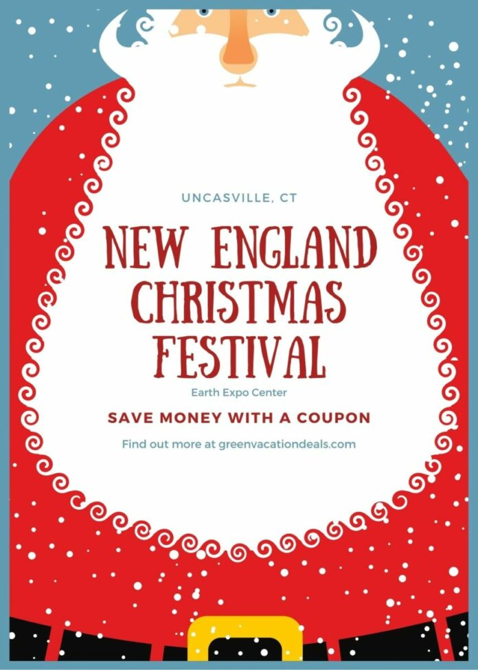Discounted admission ticket for the New England Christmas Festival artisan shopping experience at the Earth Expo Center in Connecticut