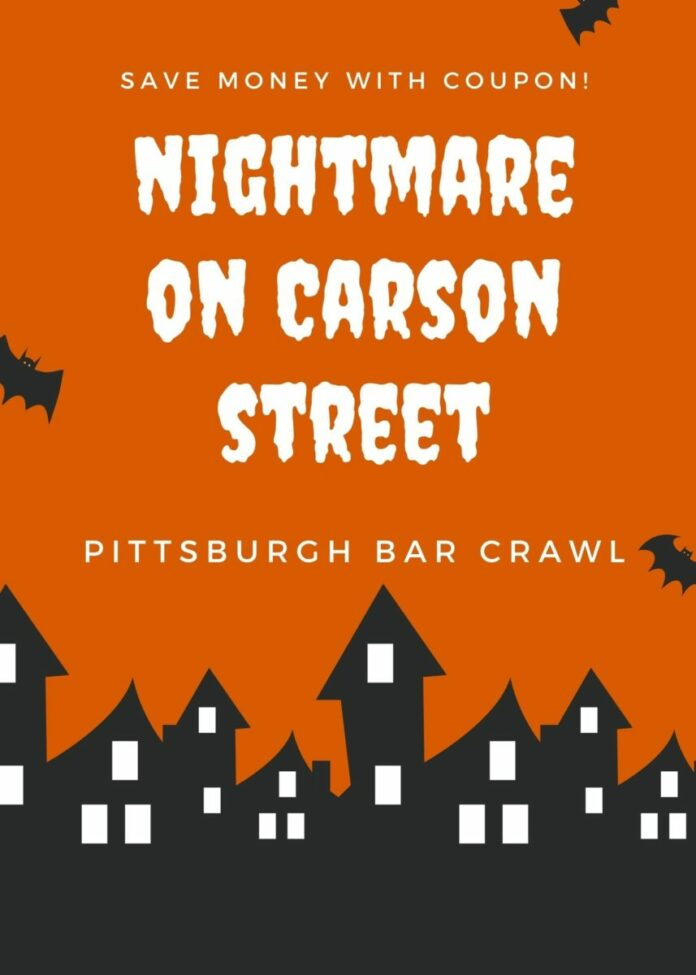 Discounted pub crawl admission to Nightmare on Carson Street in Pittsburgh, Pennsylvania