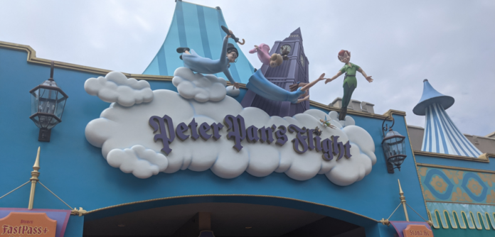 Peter Pan's Flight, a ride in Fantasyland in Disney World's Magic Kingdom theme park