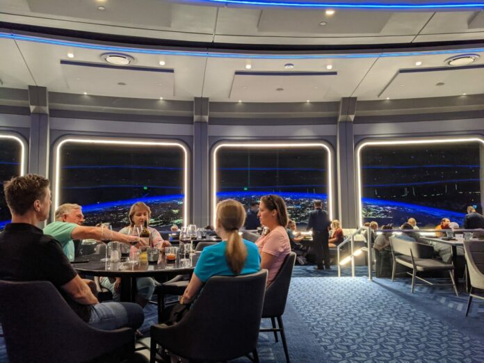 Space 220 is a must-do restaurant at Epcot theme park in Disney World in Orlando