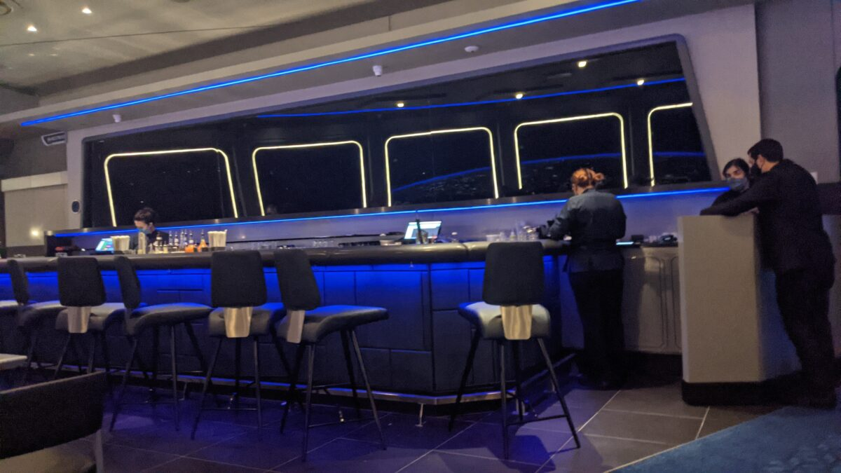 Space 220 is a family-friendly Disney World restaurant with a great bar