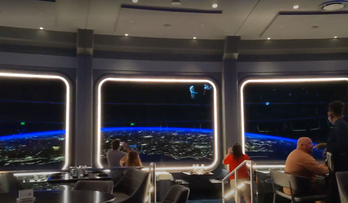 I loved the lightsabers you see while you eat dinner at Space 220 at the Walt Disney World Resort in Orlando, FL