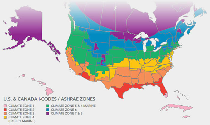 Complete Map Of Canada.Climate Zone Map Including Canada Greenbuildingadvisor