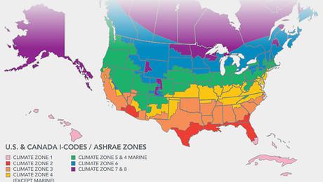 Climate Zone Map Including Canada Greenbuildingadvisor